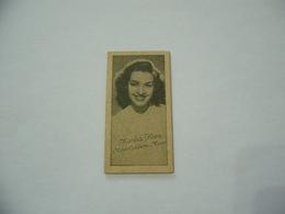 BIGLIETTO TRAM CINEMA PRINTICK OF MOVIE STAR MARSHA FLUNT REAL PHOTO CARD 1940 - Altre Collezioni