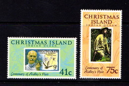 CHRISTMAS  ISLAND   1990     Centenary  Of  Henry  Ridleys  Visit   Set  Of  2       MNH - Christmas Island