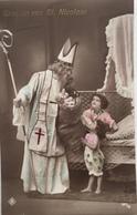 (426) Groeten Van Sint Nicolaas - Twee Kindjes Vragen Een Kadootje. - Saint-Nicolas