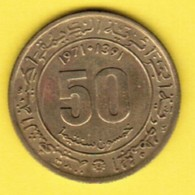 ALGERIA   50 CENTIMES 1971 (AH-1391) (KM # 102) #5352 - Algeria