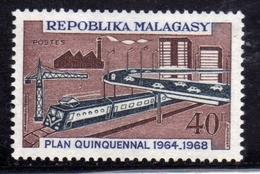 MADAGASCAR MALGACHE MALGASY REPUBLIC 1968 PLAN QUINQUENNAL FIVE-YEAR COMMUNICATIONS INVESTMENTS 40f MNH - Madagascar (1960-...)