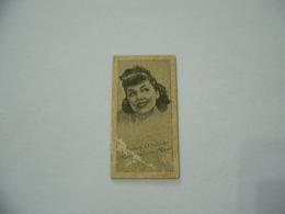BIGLIETTO TRAM CINEMA PRINTICK OF MOVIE STAR MAUREEN O' SULLIVAN REAL PHOTO CARD 1940 - Altre Collezioni