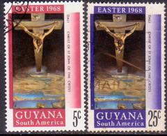 GUYANA 1968 SG 463-64 Compl.set Used Easter - Guyana (1966-...)