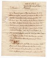 Lettre 1791 Metz Moselle Nancy Meurthe - Marcophilie (Lettres)