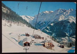 COURMAYEUR E PLAN CHECROUIT - Val D'Aosta - Panorama Invernale E Partenza Per Il Col Checrouit, Funivia - Vg - Andere Städte
