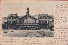 Vieille Carte Vroege Kaart Huy Hoei La Gare Du Nord 1899 Cachet Obliterarion Cachet Vezin - Huy