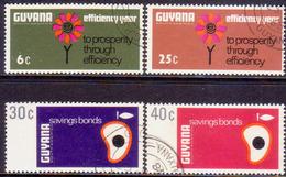 GUYANA 1968 SG 465-68 Compl.set Used Savings Bonds And Efficiency - Guyana (1966-...)