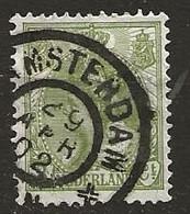 Timbre Pays Bas Obliteration Amsterdam - Niederländisch-Indien