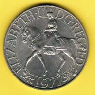 GREAT BRITAIN   25 PENCE SILVER JUBILEE 1977 (KM # 920a) #5354 - 1971-… : Monedas Decimales