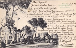Egypte - Alexandrie - La Route De Ramleh Avec La Laiterie Française - Alexandrie