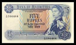 # # # Seltene Banknote Mauritius 5 Rupees UNC # # # - Mauritius