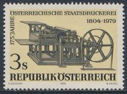 Oostenrijk Austria Österreich 1979 Mi 1627 YT 1449 SG 1850 ** Koenig-Buchdruckschnellpresse Mit Dampfantrieb (um 1840) - Fabrieken En Industrieën