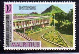 MAURITIUS 1971 COMMONWEALTH MEDICAL CONT. PRINCESS MARGARET ORTHOPEDIC CENTER 10c MNH - Mauritius (1968-...)