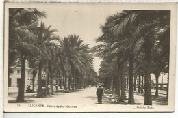 ALICANTE PASEO MARTIRES ESCRITA - Alicante