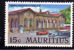 MAURITIUS 1970 GENERAL POST OFFICE BUILDING 15c MNH - Mauritius (1968-...)