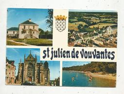 Cp, 44 , SAINT JULIEN DE VOUVANTES ,  Vue Aérienne ,maison De Retraite... ,  Multi Vues,  écrite - Saint Julien De Vouvantes