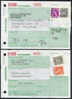 Denmark 3 X DSB Banepakke Railway Folgeseddel - Denmark