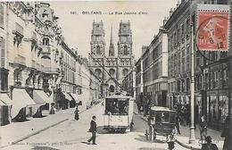 45, Loiret, ORLEANS, La Rue Jeanne D'Arc, Scan Recto-Verso - Orleans
