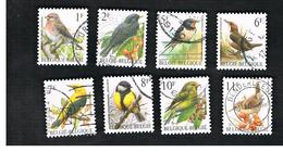 BELGIO (BELGIUM)   - SG 3074.3086 - 1992  BIRDS      - USED - Usati