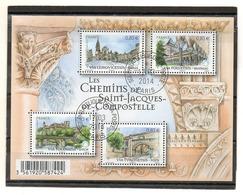 FRANCE   Feuillet 4 Timbres 0,83 €     2014   Y&T: F4838   Chemins De Saint Jacques De Compostelle    Oblitéré - Sheetlets