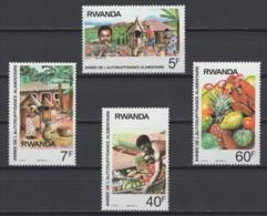 1987. Rwanda. COB N° 1297/1300 **, MNH. Cote 2018 : 4,50 € - Rwanda