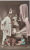 (427) Groeten Van Sint Nicolaas - Het Meisje Een Pop - De Jongen Een Beer - Saint-Nicolas
