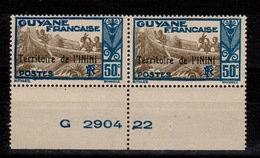 Inini - YV 12 N** Gomme Coloniale En Paire BdF - Inini (1932-1947)