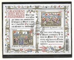 FRANCE   Feuillet 2 Timbres 1,45 €     2013   Y&T: F4828  Les Grandes Heures De L'Histoire De France   Oblitéré - Sheetlets