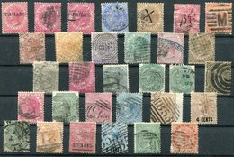 Queen Victoria: Straits Settlements, Mauritius, India X 31 Stamps - Stamps
