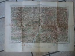 Carte Digne St Andre Colmars Allos Sederon Banon La Perusse Ribiers La Motte Castellane Peyroules - Cartes Topographiques