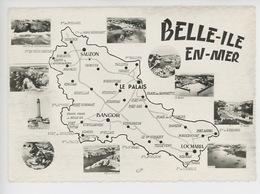 Belle Ile En Mer - Géographique Multivues N°2 C Combier Cp Vierge - Belle Ile En Mer