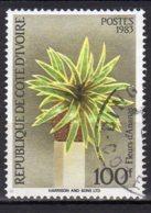 Cote-d'Ivoire Yvert N°675C Oblitéré Fleurs Lot 3-800 - Côte D'Ivoire (1960-...)