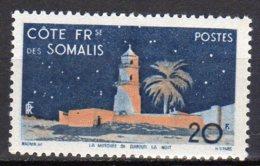 Cote Des Somalis Yvert N°281 Neuf Avec Charnière Mosquée De Djibouti Lot 3-832 - Costa Francese Dei Somali (1894-1967)
