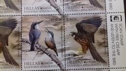 GREECE, 2019, MNH, BIRDS, EUROPA 2019,HAWKS, KINGFISHERS,  2v - 2019