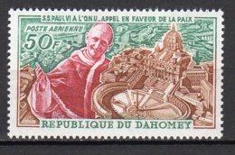 Dahomey Yvert N° 43 Aérien Neuf Jean-Paul VI Lot 4-9 - Benin – Dahomey (1960-...)