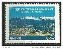 "FR Adhesif YT 469 "" Rattachement De Nice "" 2010 Neuf** - Frankreich"