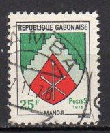 Gabon Yvert N° 366 Oblitéré Armoirie Mandji Lot 4-83 - Gabon (1960-...)