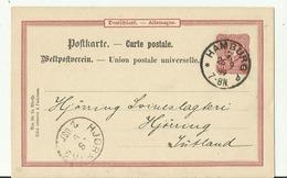 DR GS 1889 Hamburg Nach Jutland Hjorring - Deutschland