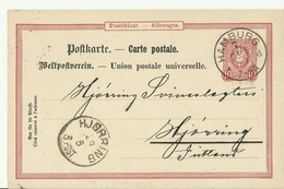 DR GS 1889 Hamburg Nach Jutland Hjorring - Alemania
