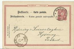 DR GS 1889 Hamburg Nach Jutland Hjorring - Interi Postali