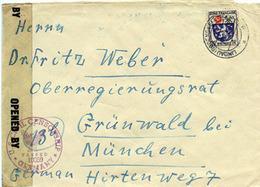 (k7104) Brief. Franz. Zone St. Lindau N. München Zensur - Zone Française