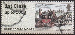 GREAT BRITAIN 2016 Post & Go: Royal Mail Heritage. Transport. Mail Coach, 1790s - Great Britain