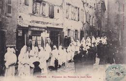 48...Mende  Prcession Des Penitents  Le Jeudi Saint...302 - Mende