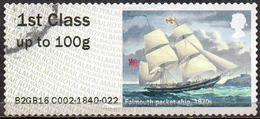 GREAT BRITAIN 2016 Post & Go: Royal Mail Heritage. Transport. Falmouth Packet Ship, 1820s - Great Britain