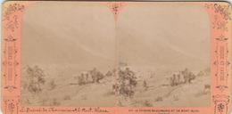 PHOTO ORIGINALE(  Stereoscopiques )     Le Prieuré De Chamonix Et Du Mont Blanc - Photos Stéréoscopiques