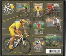 FRANCE   Feuillet 8 Timbres  0,58 €     2013   Y&T: F4755     Le Tour De France  Oblitéré - Sheetlets