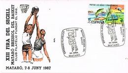 33604. Carta MATARÓ (Barcelona) 1987. Basquet, Baloncesto Basketball - 1931-Hoy: 2ª República - ... Juan Carlos I