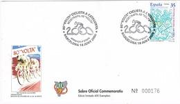 33605. Carta BARCELONA 2000, Mostra Filatelica 80 Volta Ciclista Catalunya. Ciclismo, 4º Etapa - 1931-Hoy: 2ª República - ... Juan Carlos I