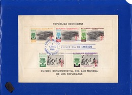 ##(DAN198)-Rep. Dominicana 1960- World Refugee Year M/S Perforate And Imperforate On 2 FDC - Tegen De Honger