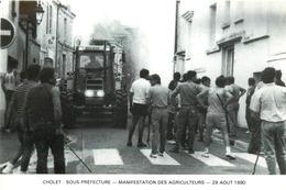 Dép 49 - Agriculture - Tacteurs - Tracteur Renault - Cholet - Sous Préfecture - Manifestation Des Agriculteurs - Cholet